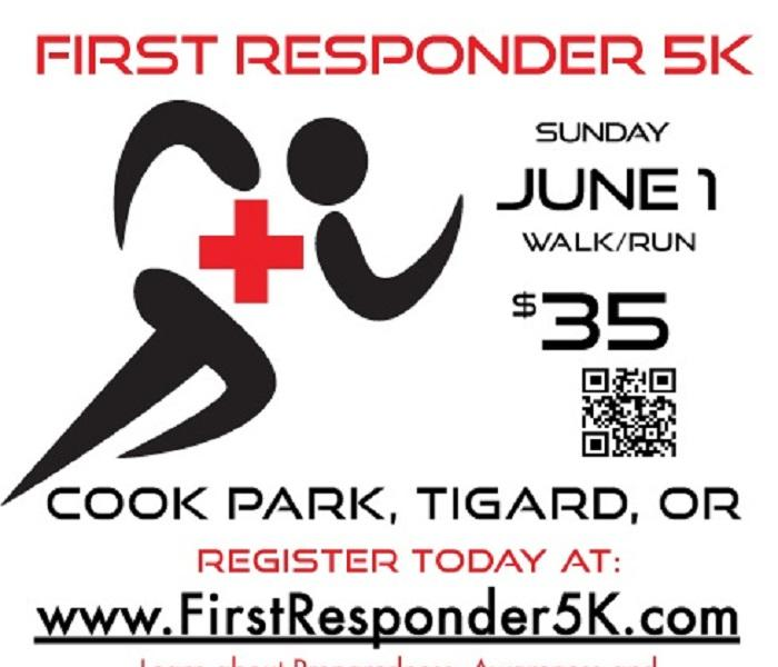 5K Run/Walk for the local Red Cross
