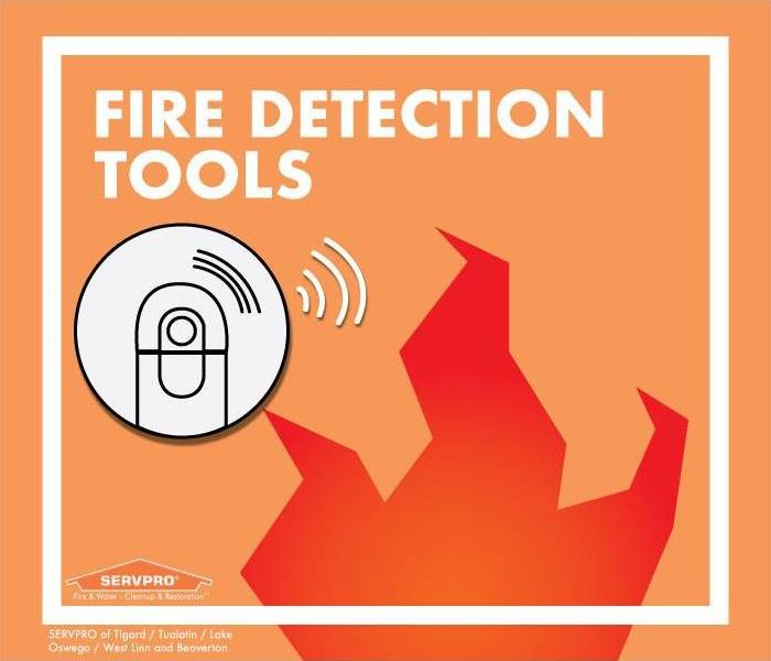 smoke alarm graphic above flame graphic