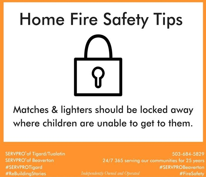 Fire Damage Home Fire Safety Tip # 5