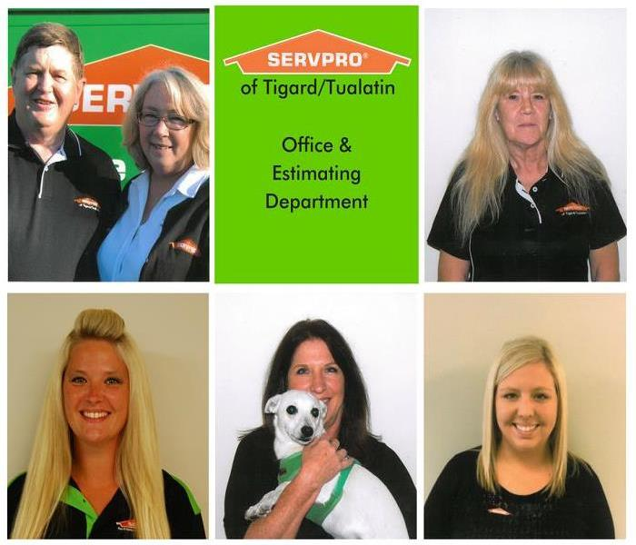 Fire Damage Administrative & Estimating Department of SERVPRO® of Tigard/Tualatin