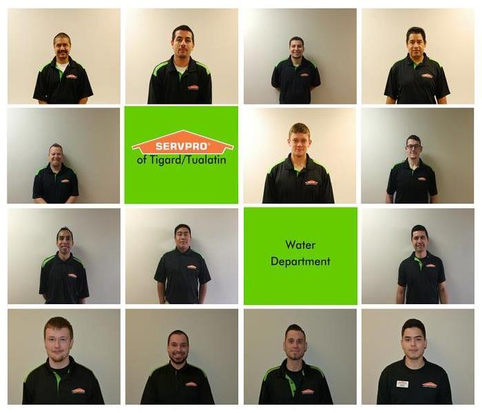 Water Damage Water Production Department of SERVPRO® of Tigard/Tualatin