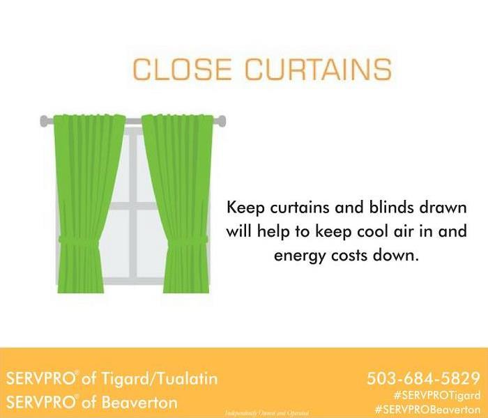 Commercial Draw your curtains to help with energy costs