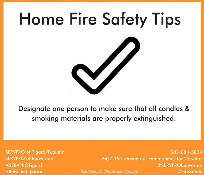 Fire Damage Home Fire Safety Tip # 13