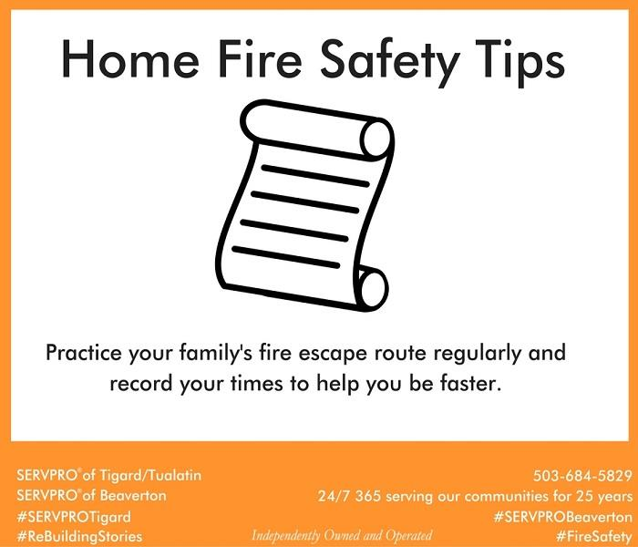 Fire Damage Home Fire Safety Tip # 10