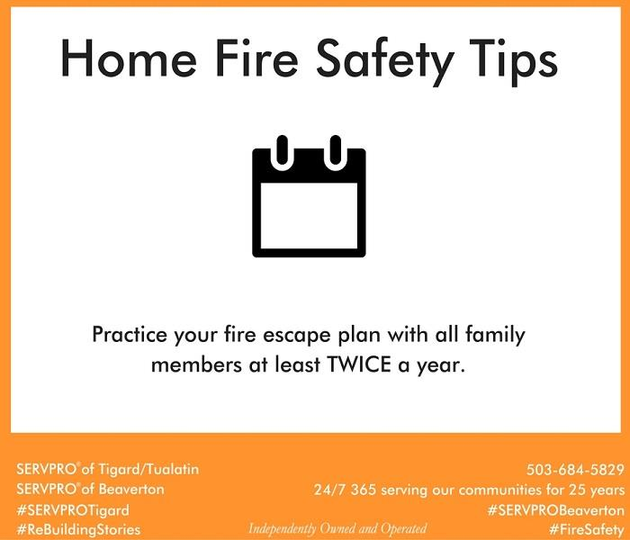 Fire Damage Home Fire Safety Tip # 9