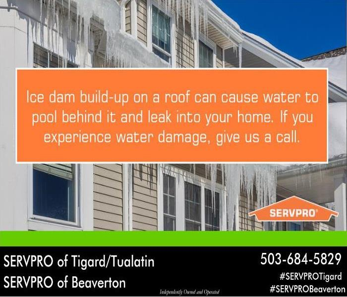 Water Damage Who to call when ice damage affects your home.