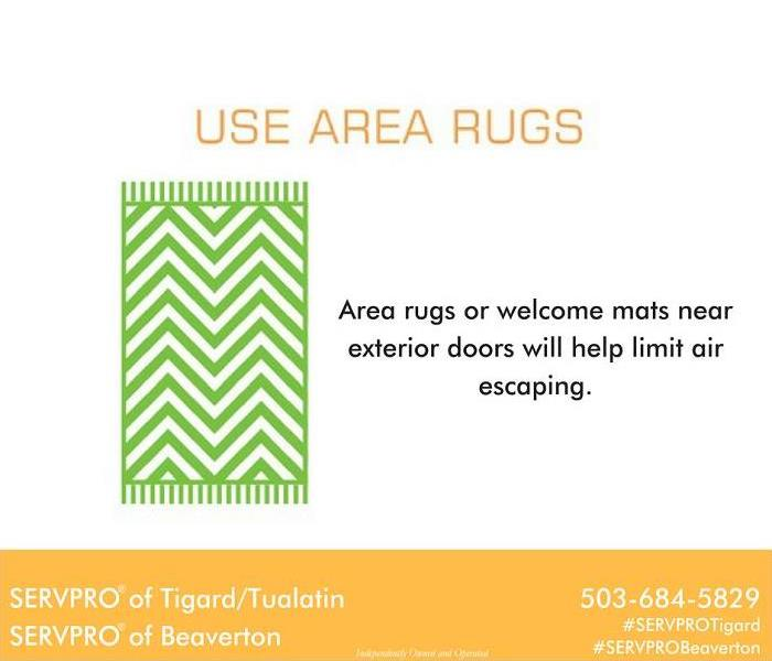 Fire Damage Area rugs can help cool air loss